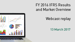 FY 2016 IFRS Results and Market Overview